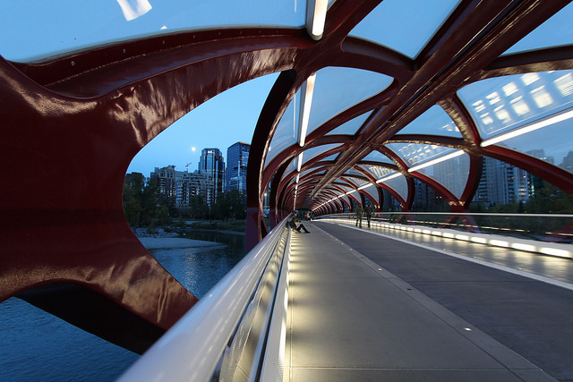 Calgary Peace Bridge by Dave Bloggs