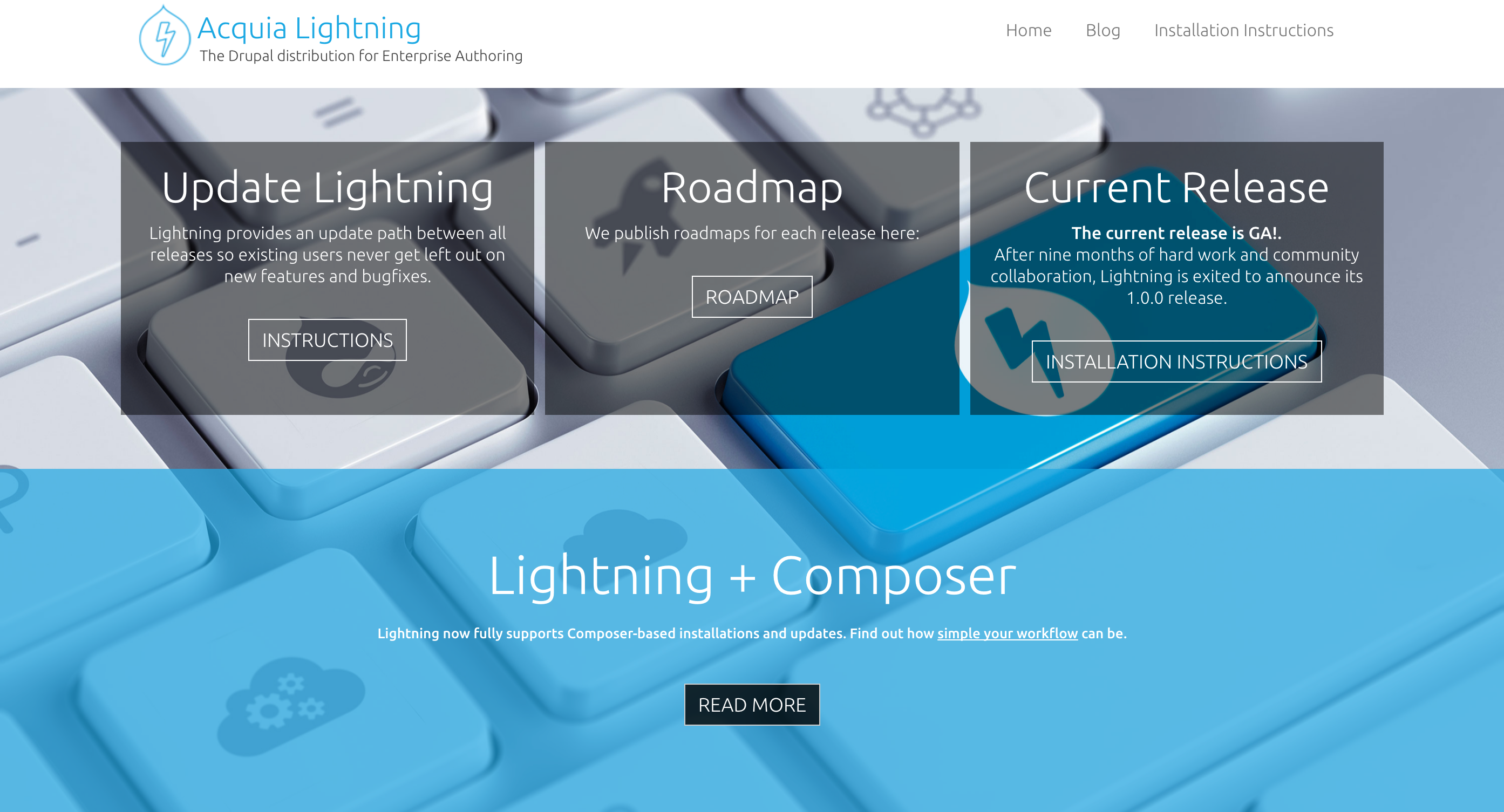 Drupal 8 module distro of the week lightning acquia why is the lightning distribution important to developers xflitez Gallery