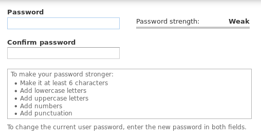 Password Policies and Drupal